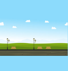 flat of garden for background game vector image
