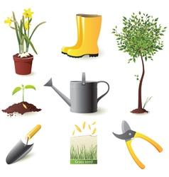Gardening icons set - vector