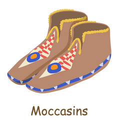 moccasins icon isometric 3d style vector image vector image