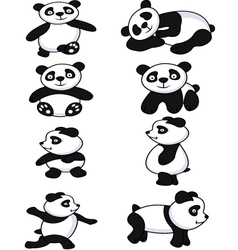 panda collection vector image vector image