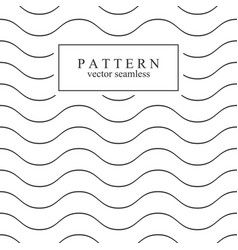 wave seamless minimalistic pattern vector image vector image