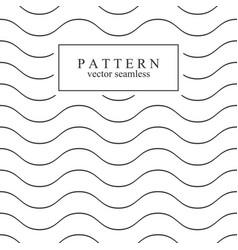 wave seamless minimalistic pattern vector image