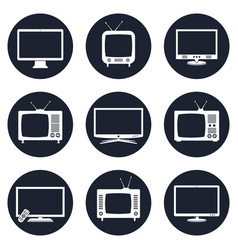modern and retro tv icons vector image