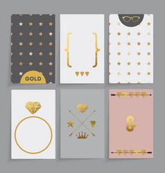 modern wedding card vector image vector image