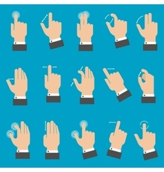 Multitouch gestures for tablet or smartphone vector image