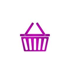Shopping basket icon vector image vector image