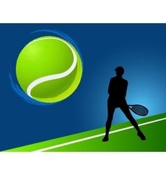 sport background tennis vector image