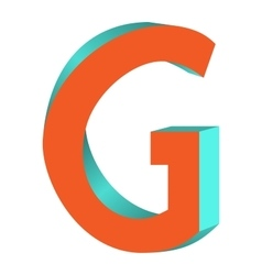 Twisted Letter G Logo Icon Design Template Element vector image
