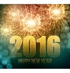 2016 New Year made a sparkler vector image vector image