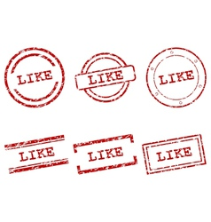 Like stamps vector image vector image