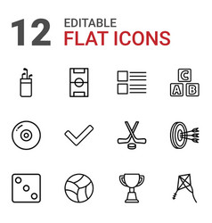 12 game icons vector