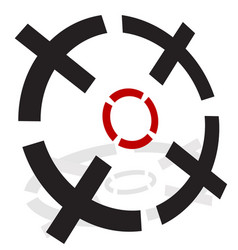 3d crosshairs reticle vector