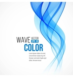 Abstract background with blue wave vector image