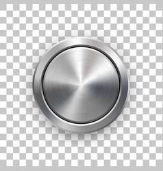 Abstract technology circle geometric metal badge vector