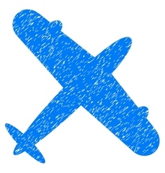 Aeroplane Grainy Texture Icon vector