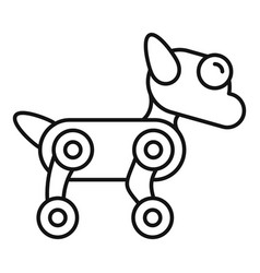 Ai dog robot icon outline style vector