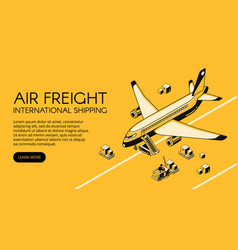 air freight logistics isometric vector image
