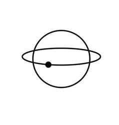 atom science icon vector image
