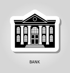 bank building web sticker icon vector image