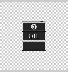 barrel oil icon isolated on transparent background vector image