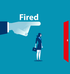 being fired managers fingers showing the exit vector image