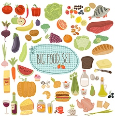 Big food set vector