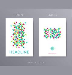 brochure design template mosaic vector image