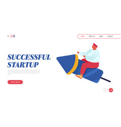 business competition startup launch website vector image