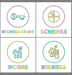 business start key schedule diagram growing income vector image
