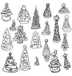 Christmas tree children new year pictures kid vector