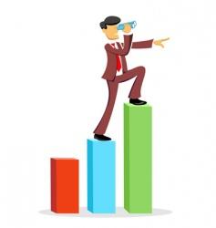 climbing business man vector image