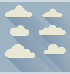 clouds flat with shadows vector image