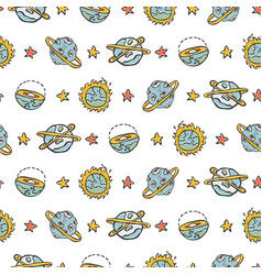 Cosmic solar system fantasy space background vector