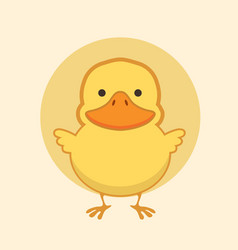 cute yellow duck vector image