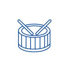 drums line icon concept drums flat symbol vector image