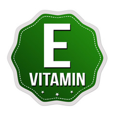 E vitamin label or sticker vector