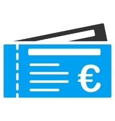 Euro Tickets Flat Icon vector image