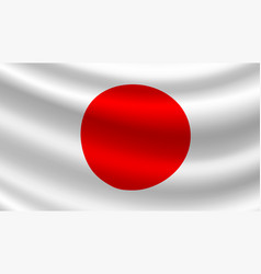 Flag of japan japanese national symbol vector