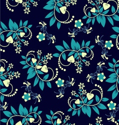 Floral background vintage style seamless pattern vector image vector image