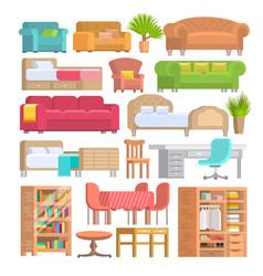 furniture furnishings design of bedroom vector image