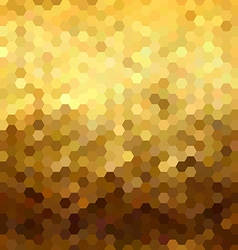 Gold honeycomb seamless pattern low poly geometry vector image