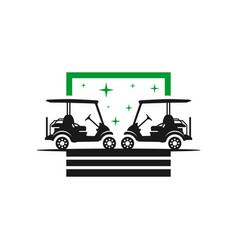 golf cart transportation logo design vector image