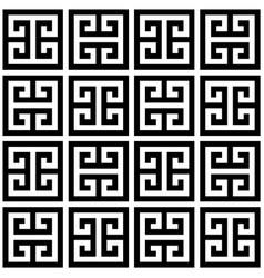 greek key seamless geometric pattern vector image