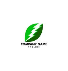 green power energy logo design element vector image