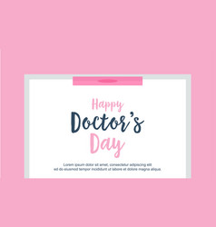 Greeting card doctor day background style vector