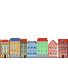 Houses combination of old european colored vector