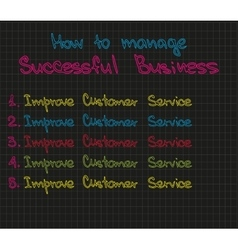 How to manage successful business vector