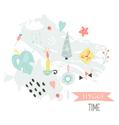 hygge living concept collage in scandinavian style vector image