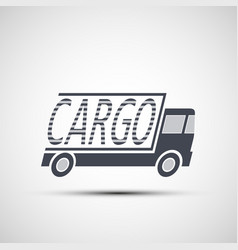 Icon truck of cargo delivery vector