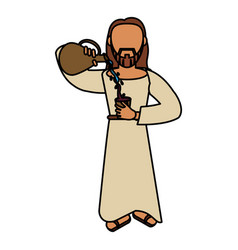 jesus christ miracle catholic vector image